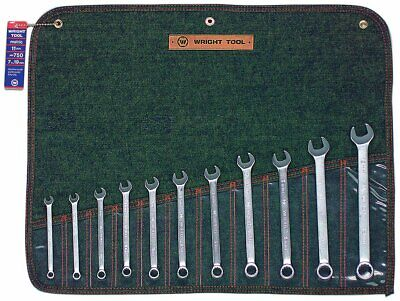 Wright Tool 750 12 Point Metric Combination Wrench Set, 7mm - 19mm (11-Piece) 7mm 12 Point Combination Wrench