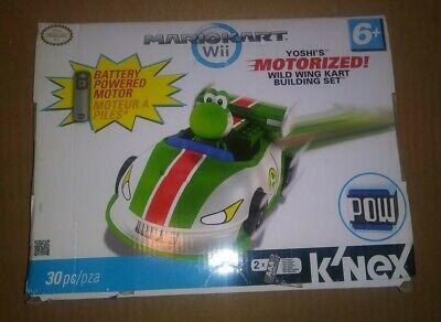 NEW K'NEX Mario Kart MarioKart Wii Yoshi Motorized Wild Wing POW Nintendo 38062!