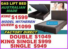 BRAND NEW Bed Queen Gas Lift With Storage. ALL SIZES. Aussie Made Ipswich Region Preview