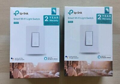 LOT of 2 - TP-LINK HS200 Smart WiFi Light Switch - White - BRAND NEW Alexa