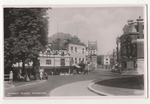 Market Place Kingston On Thames Surrey Vintage RP Postcard 819b