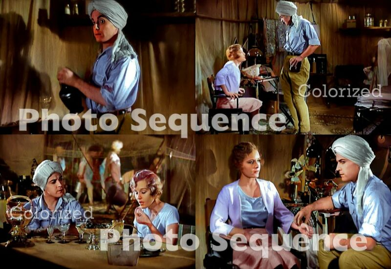 SON of INDIA Ramon Novarro Madge Evans PHOTO Sequence COLORIZED #02