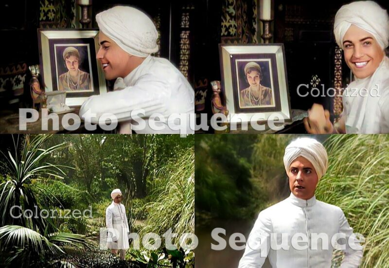 SON of INDIA Ramon Novarro PHOTO Sequence COLORIZED #01