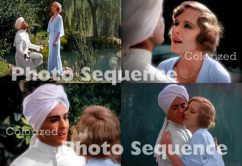 SON of INDIA Ramon Novarro Madge Evans PHOTO Sequence COLORIZED #01