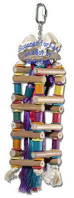 Planet Pleasures Square Medium Ladder Parrot Toys Bamboo Chew Amazon Cockatoo