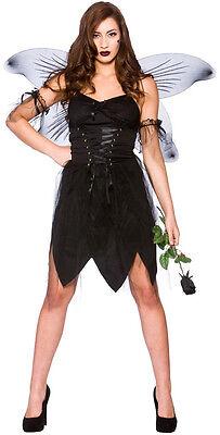 Böse Fee Gothic Damenkostüm NEU - Damen Karneval Fasching Verkleidung Kostüm ()