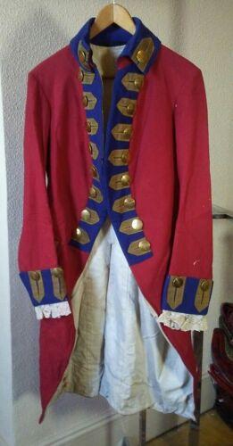 Faux US Revolutionary War & Regency Era Antique Military Tailcoat Great Display