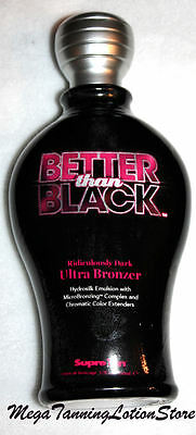 Supre Tan Better than Black Dark Ultra Bronzer Indoor Tanning Bed (Best Indoor Tanning Lotion With Bronzer)
