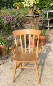 Pine armchair