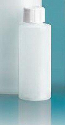 2 oz (60 ml) HDPE Plastic Bottles w/Screw-On Caps (Lot of 100)