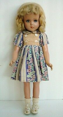 Old Vintage ARRANBEE Composition Doll Blond Mohair Wig