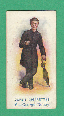 COPE BROS. & CO. LTD. - VERY RARE MUSIC HALL ARTISTES CARD - GEORGE ROBEY - 1913