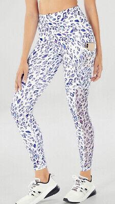 Fabletics Mila High-Waisted Pocket Legging Powerhold XXS Glam Leopard
