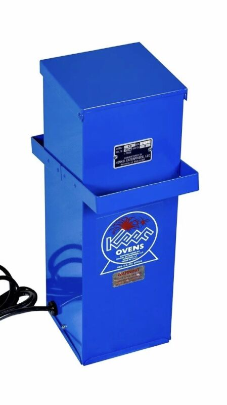 Keen K-10L Portable Welding Rod Oven with Lid Latch - Dual 120V/240V - New