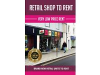 Shop To let next door to Boots only £35 per week