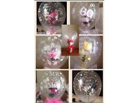 Flowers in balloons