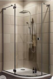Shower bases and screens.