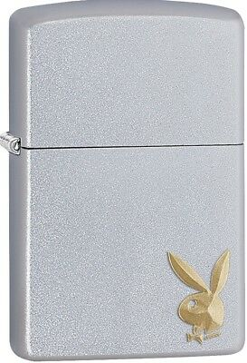 Zippo 2018 Playboy Design Iconic Gold Bunny Satin Chrome Lig