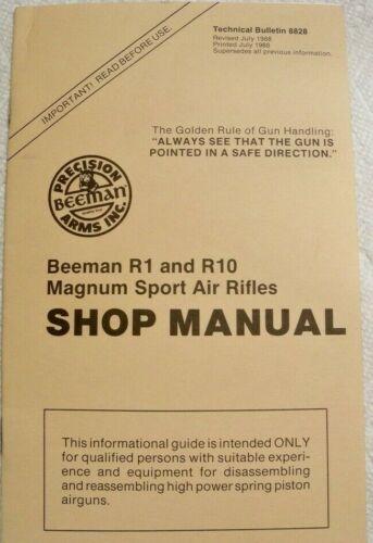 Beeman R1 and R10 Magnum Sport Air Rifle SHOP MANUAL