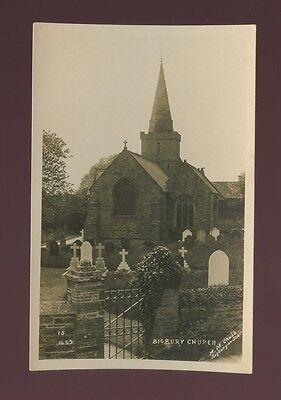 Devon BIGBURY Church c1920/30s? RP PPC by M M Chubb