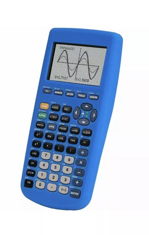 Guerrilla TI83 Plus Silicone Case Cover For Texas Instruments Calculator In Blue