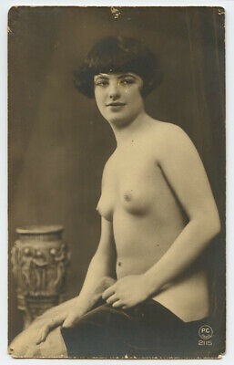 1920s French Risque Nude PRETTY LADY Flapper PC Paris 2115 photo postcard
