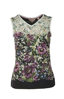 BNWT Ted Baker Floral Enchantment Sleeveless Vest Top - size 1 UK 8