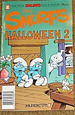 Halloween Promotional Giveaways (SMURFS HALLOWEEN 2 PAPERCUTZ 2011 ASHCAN MINI GIVEAWAY PROMO)