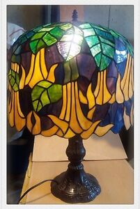 """16"""" oval shape stained glass lamp"""