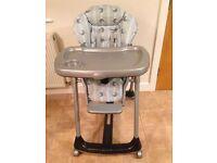 Mamas &a Papas Prima Pappa Height Adjustable Evo Astro Highchair
