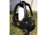 Batman Little tykes cosy coupe car garden toy