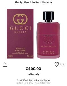 New in box Gucci Guilty perfume for women