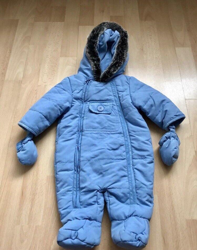 Baby snowsuit-blue