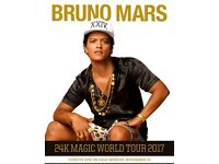 Bruno mars tickets - Birmingham - front standing - 24th March 2017