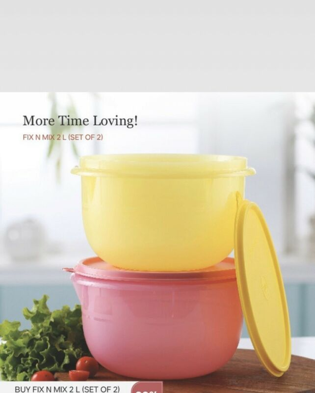 Tupperware-Fix n Mix Bowl- 2 litre Capacity each Set of 2 in New Colors..