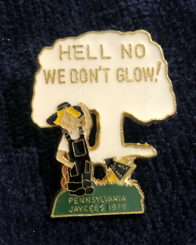 1979 Jaycees Pennsylvania Three Mile Island Nuclear Accident Enamel Pin  RARE!
