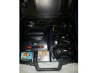 Sega Mega Drive II - 2 Player Set-Up - Streets Of Rage + More