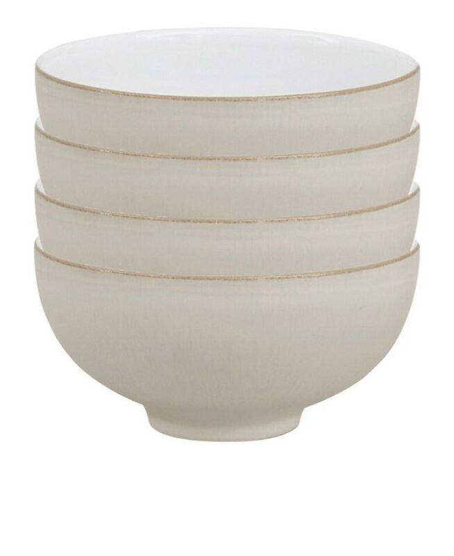 Denby Set of 4 Natural Canvas Rice Bowls