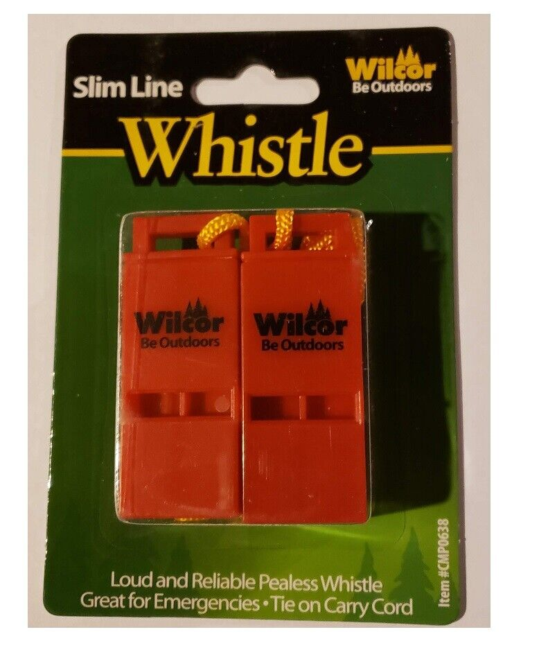 Hiking Whistle Safety Emergency Loud Pealess - 2 Pack