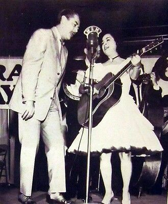 STONEY & WILMA LEE COOPER country fiddle B&W photo Grand Ole Opry 1940s WSM