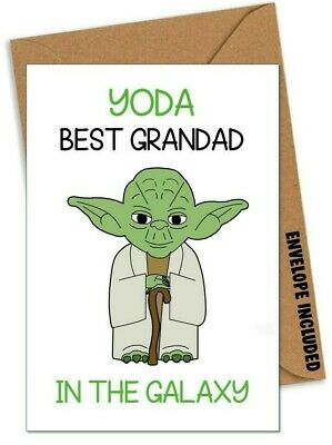 Yoda Star Wars Funny Fathers Day Card for Grandad Grandpa Gramp Love you I do AO