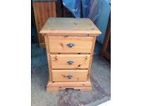 Solid Bedside Cabinet in Good Condition