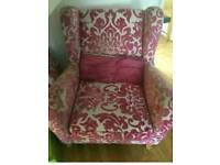 DFS pink/cream chair