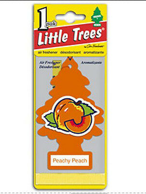 Little Trees Hanging Car & Home Air Freshener Peachy Peach 12 Packs