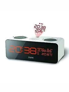 OREGON SCIENTIFIC LCD CLOCK witch Projection & Analogue FM Radio