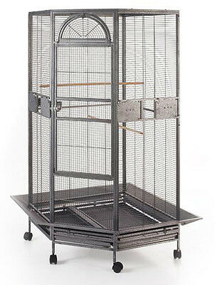 "63"" Large Parrot Escape Jumbo Corner Bird Cage Aviary Around Seed Skirt 159"