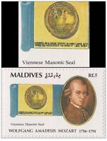 Maldives 6 V. Death Of Mozart Mint Mnh Freemasonry Masonic Freemasonry -  - ebay.it
