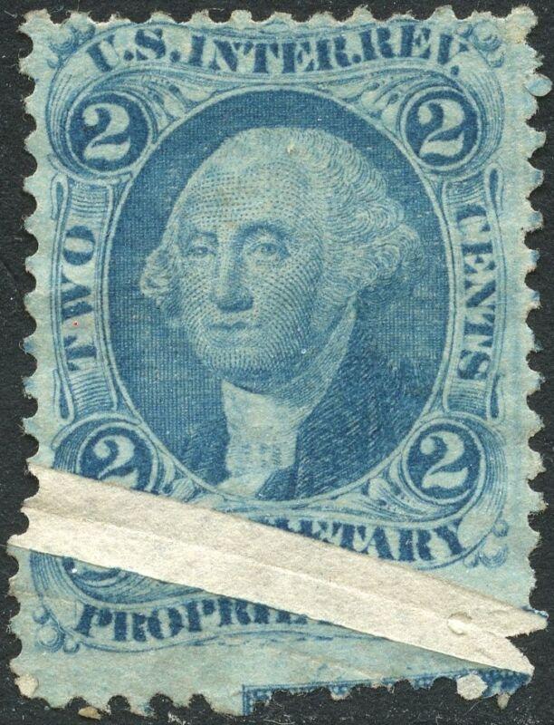 "#r13c Var. ""2¢ Propriety"" Major Pre-print Paper Fold Error Bn5342"