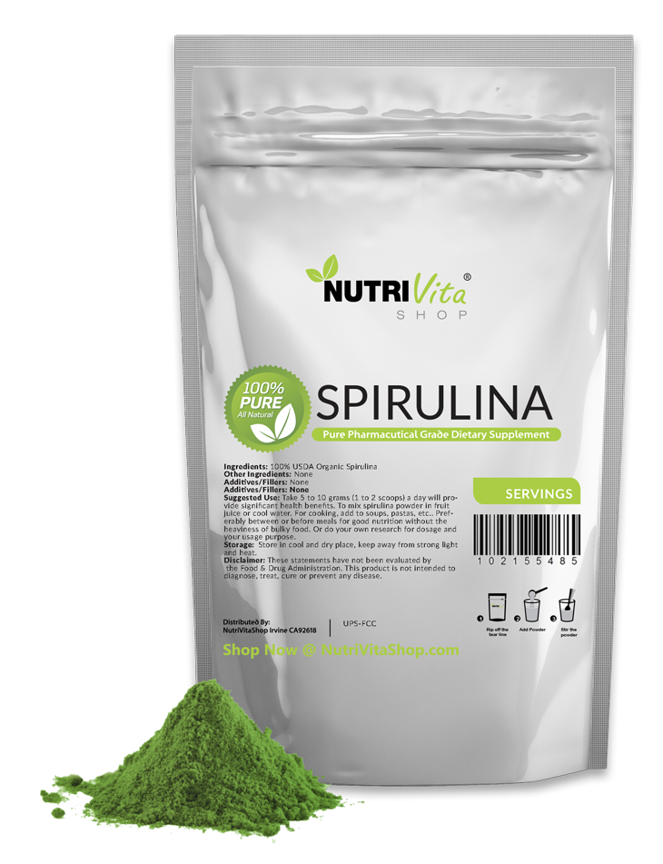 11 lb (5000g) NEW 100% PURE SPIRULINA POWDER ORGANICALLY GROWN nonIRRADIATED