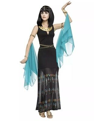 Egyptian Queen Adult Halloween Costume-Women Small/Medium (2-8) by Fun World (Fun Halloween Costumes For Women)